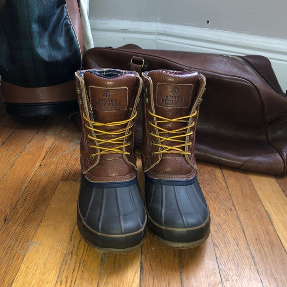 Brooks Brothers Duck Boots Size